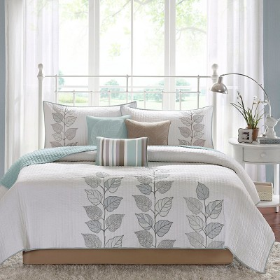 Marissa Quilted Coverlet Set 6pc