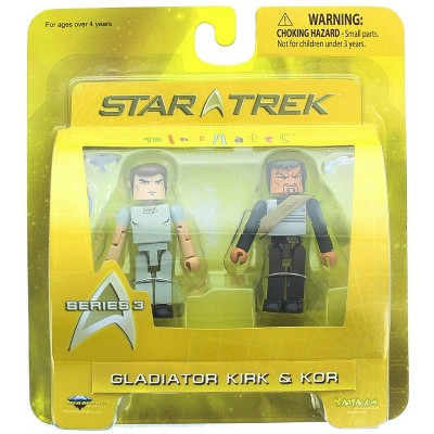 Diamond Comic Distributors, Inc. Star Trek Minimates Figure 2 Pack - Gladiator Kirk & Kor The Klingon