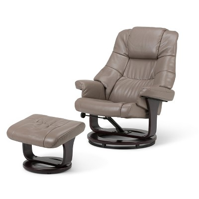 euro recliner chair target folding chairs padded shelburne taupe faux air leather wyndenhall