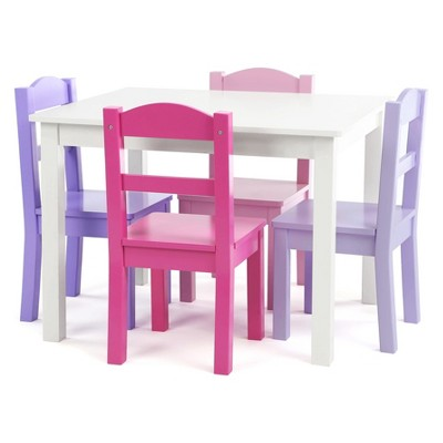 pink kids chair graco high straps tot tutors set of 4 chairs with forever wood table white target