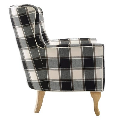black and white accent chairs with arms monte rocking chair knox checkered pattern dorel living target