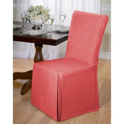 dining chair slipcover dental parts description chambray room madison industries target