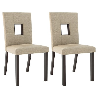 cream upholstered dining chairs made to order bistro chair wood woven set of 2 corliving target