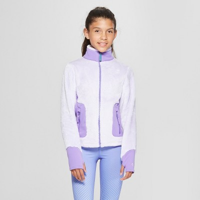 Girls' Long Sleeve Fleece Jacket - C9 Champion® Purple