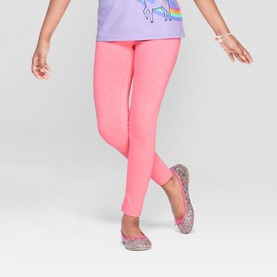 Girls' Leggings - Cat & Jack™ Neon Pink