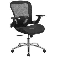 Executive Mesh Office Chair Mickey Mouse Toddler Swivel With Synchro Tilt Black Flash Furniture Target