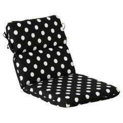 Black Outdoor Rocking Chair Cushions Beach Cooler Backpack Cushion White Polka Dot Target