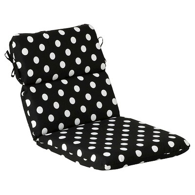 polka dot rocking chair cushions covers quality outdoor cushion black white target