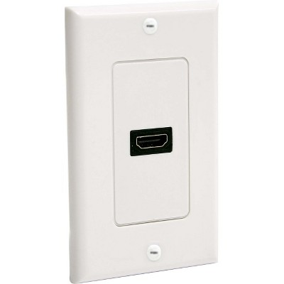 StarTech Single Outlet Female HDMI Wall Plate White - 1-gang - HDMI Digital Audio/Video - White