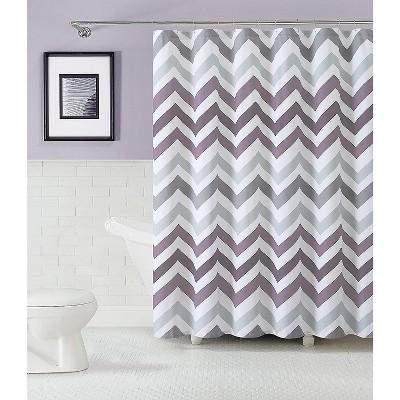 kate aurora living 100 cotton chevron fabric shower curtains purple