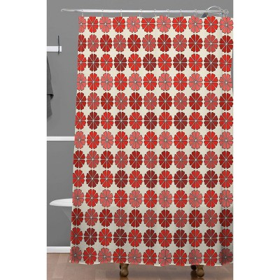 black red shower curtain target