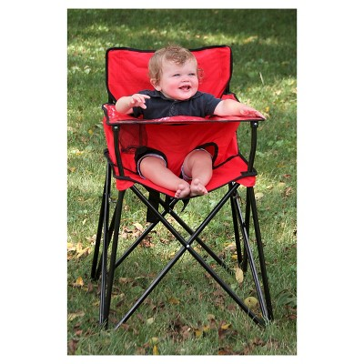 portable high chair target chrome dining chairs ciao baby red
