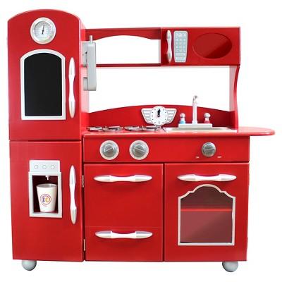 retro kids kitchen wall splash guard teamson wooden play red target