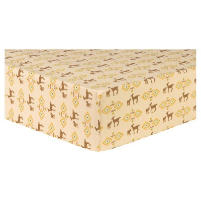 Trend Lab Deluxe Flannel Fitted Crib Sheet - Deer Aztec