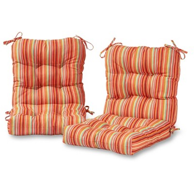 outdoor chair cushions at target office ball cushion set of 2 seat back coastal stripe greendale home fashions