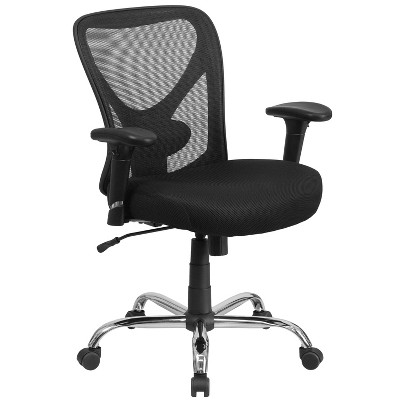 tall swivel chair car covers near me hercules series 400 lb capacity big task black mesh flash furniture target