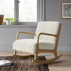 Target White Rocking Chair Shower Bench Esters Wood Arm Sherpa Project 62
