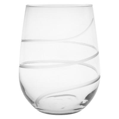 17oz 4pk Twist Stemless Wine Glasses - Rolf Glass