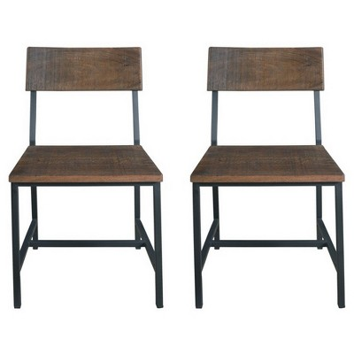 distressed dining chairs desk chair without wheels uk woodbridge set of 2 brown treasure trove