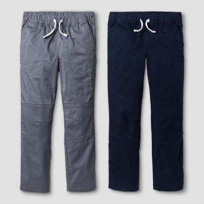 Boys' 2pk Pull-On Pants - Cat & Jack™ Gray/Blue