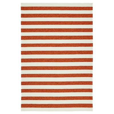 Kaleen Rugs Escape Stripes Indoor/Outdoor Area Rug Paprika (2'x3')