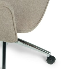 Zara Swivel Chair Rattan Cushions Specter Large Office Taupe Micro Fiber Fabric 8 More
