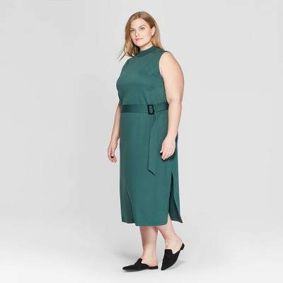 Women's Plus Size Sleeveless Crewneck Knit Midi Dress - Prologue™