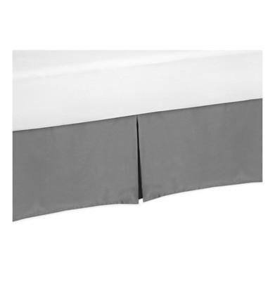 Gray Bed Skirt for Black & White Fox Collection (Toddler) - Sweet Jojo Designs