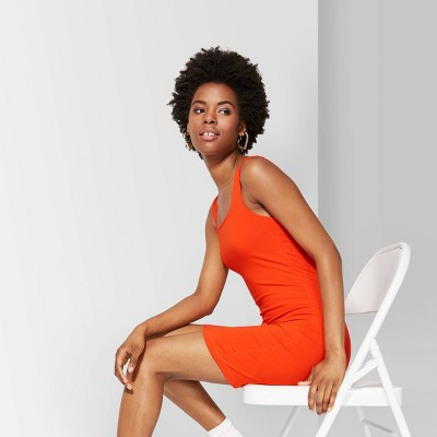 Women's Strappy Square Neck Knit Dress - Wild Fable™