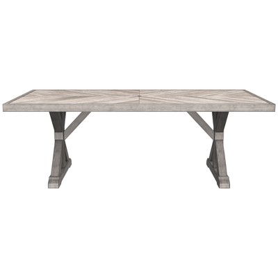 rectangle patio dining table beige outdoor by ashley