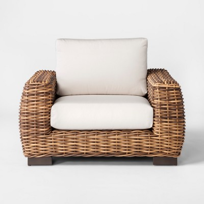 cushions for wicker chairs best occasional eldridge patio club chair with sunbrella smith hawken target