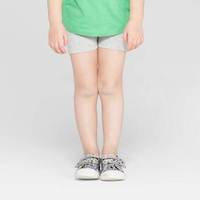 Toddler Girls' Tumble Shorts - Cat & Jack™ Heather Gray