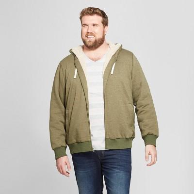 Men's Big & Tall Sherpa Fleece Jacket - Goodfellow & Co™
