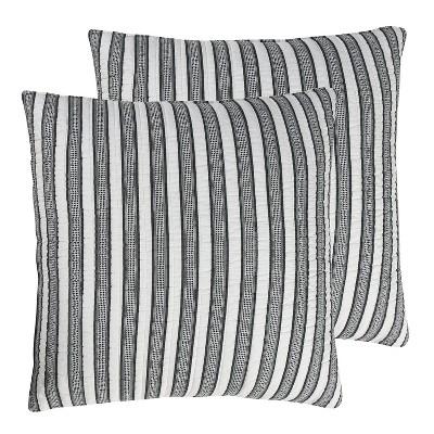 tanzie black stripe quilted euro sham 2pk levtex home
