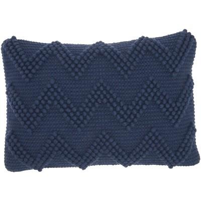 nourison life styles large chevron indigo lumbar throw pillow 14 x 20