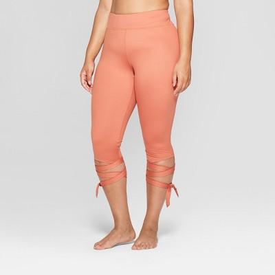 Women's Plus Size Side Tie Capri Mid-Rise Leggings - JoyLab™
