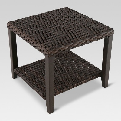 halsted wicker square patio side table threshold