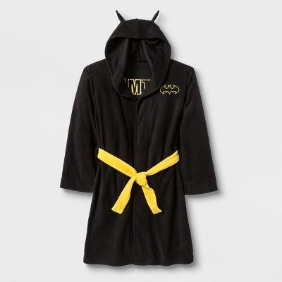 Boys' Batman Hooded Robe - Black