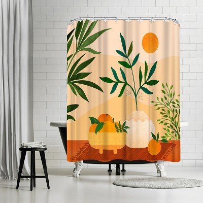 americanflat boho summer by modern tropical 71 x 74 shower curtain
