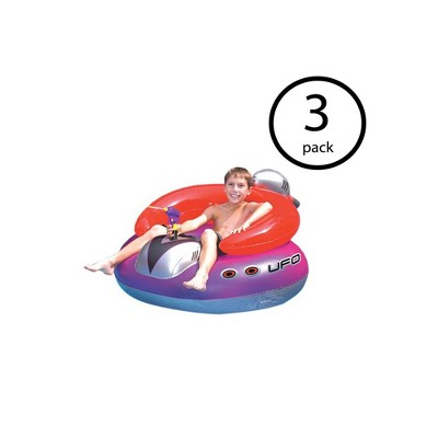 pool chair floats target modern bean bag chairs canada swimline swimming ufo squirter toy inflatable lounge float 3 pack