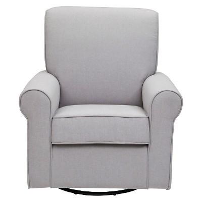 delta avery nursery glider chair grey cover hire dunfermline children swivel rocker target