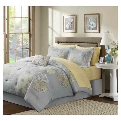 9pc Cornell Floral Comforter Set