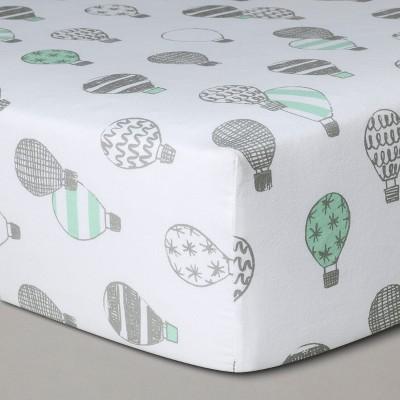 Crib Fitted Sheet Hot Air Balloons - Cloud Island™ Gray