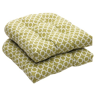 green chair cushions allsteel sum outdoor 2 piece wicker cushion set white geometric about this item