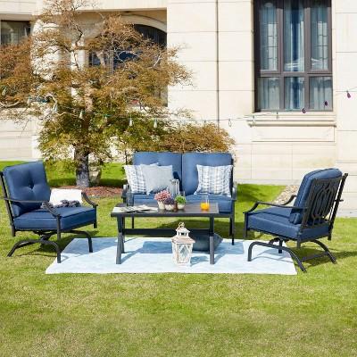 4pc sectional patio conversation set patio festival