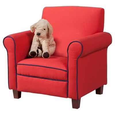 childrens upholstered chairs ikea tub chair covers canada kids red homepop target