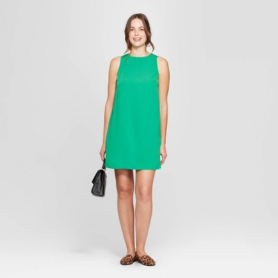 Women's Sleeveless Crewneck Crepe Dress - A New Day™ Green