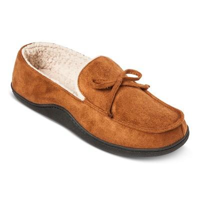 Impressions by isotoner men   cognac moccasin slipper also target rh