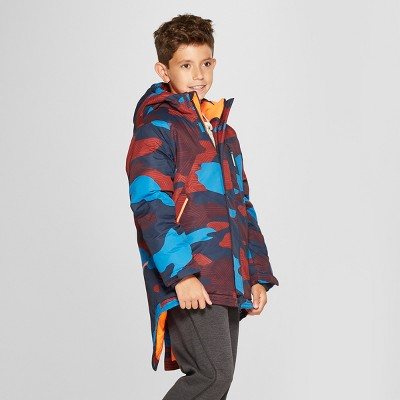 Boys' Camo Print Parka Jacket - C9 Champion® Navy