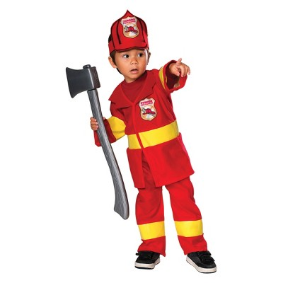 Toddler Junior Firefighter Halloween Costume 3T-4T